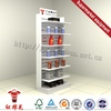 Latest usa style red plastic supermarket shopping cart shelf in china