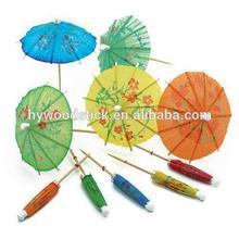 Most Popular Food Grade Wood Party Food Picks Umbrella Picks