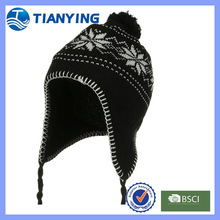 Winter Acrylic Junior Snow Ear Cover Knit Hat