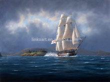 Bulk Wholesale of Home Goods Framed Wall Art Sea Oil Painting