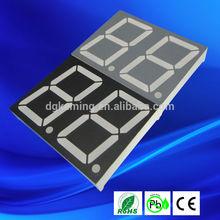 1.5 inch blue color 2 digits 7 segment led display digital electronics