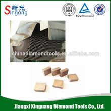 diamond cutting segments for stone processing
