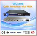 En 4 1 modulador qam 4 incrustado y multiplexor scrambler, modulador de asi, dvb-c qam 16 canal modulador rf col5441b de televisión por cable