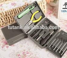 24 pc de hardware herramienta destornilladores apiladoras cuchillos set