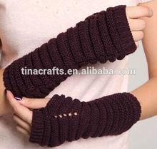 Semi-finger purl stitch arm warmers