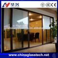 de seguridad baratos sin marco de aluminio correderas de cristal templado puerta de entrada del fabricante
