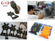 10 picos anti- deslizamiento de silicona de hielo agarre& escalada en hielo crampones para botas