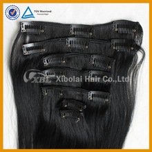 Tangle free no shedding full head clip in hair extensions