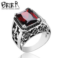 BEIER Shitai silver inlay CZ Ring Sterling Silver Rings influx of male jewelry wholesale popular D0447