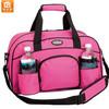 "Pink 18"" Sports Brand Duffle Bag Workout Tote Shoulder Gym Yoga Bag with Water Bottle Holder"