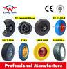 flat free tire 4.00-8 wheel barrow 14 inch solid rubber wheel for wheelbarrow