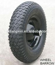 flat free tire 4.00-8 wheel barrow wheel solid rubber wheel 16x4.00-8