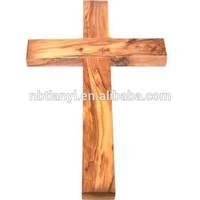 Bethlehem olive wood crucifix