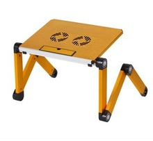 Small Flexible Laptop On Table With USB Cooling Fans