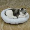 plush imitated life size snoring sleeping fake fur dog that breathes real
