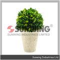 conserva la pirámide de madera de boj topiary artificial de la planta