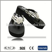 cheap price uk sale online bling promotional flip flops wedge high heels