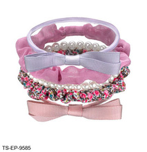 China Wholesale Fashion Elastic Hairbands Ponytail Holder Hair Accessories, Mixed Scrunchie Bow Ponies
