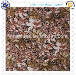 100% rayon discharge printing with metallic fabric