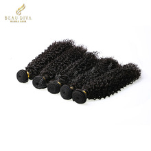 wholesale and cheap brazilian human hair kinky curly hair 6A 100% human hair extension no tangle/shed