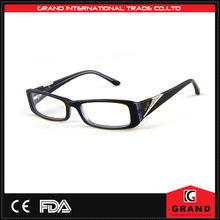 hign qualità popolare promozione nero occhiali di plastica
