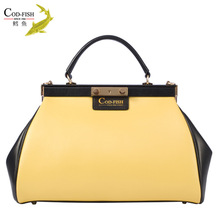 Hot selling product COD-FISH brand cowhide korea fashion ladies wholesalers hong kong handbag store design and decoration