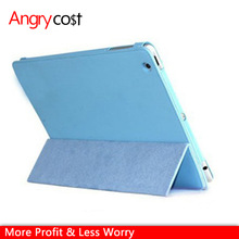 Lichee pattern PU foldable leather case for ipad mini1/2