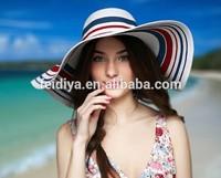 Ladies fashion beach straw hats , Customize paper straw hats