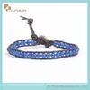2014 new fashion jewelry, deep blue color semi precious stone handmade bracelet