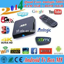 Cheap 4K Ultra HD Android 4.4 Quad Core Hdmi Wifi TVx M8 Amlogic S802 XBMC
