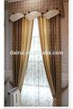 2014 nouveau fil de lin européen teints drapés de rideaux de fenêtre et conceptions de cantonnière de bandeau