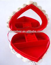 Hot sale heart shell shape cosmetic case ,beauty jewelry organizer case
