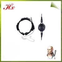 round PTT two way radio waterproof throat mic