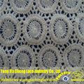 100% algodão bordado do laço de tecido grosso para fazer o vestido