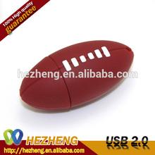 Rotary USB Flash Memory Drive New Elliptic Football Style 4GB