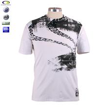 100%cotton white screen printing t-shirt printing in china