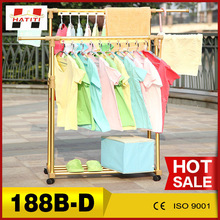 Made in China cheap factory sales portable wholesale rolling clothing drying rack 188B-D