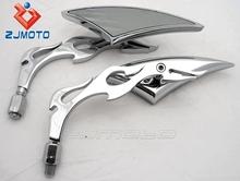 Motorcycle Mirror Motorbike Mirror Suitable to Honda Kawasaki Suzuki Cruise Yamaha Cruiser V-Star H. Davids Chopper Titan