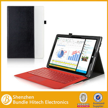 for microsoft surface pro 3,Keyboard stand Leather Case for Surface Pro 3