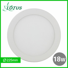 Brightest round smd2835 18w led panel downlight 1320lm natural white
