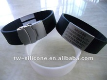 sports id wristband black team id silicone bracelets