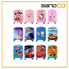 2014 cute trolley suitcase cartoon fashion pc luggage for children