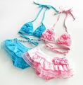 Enfants filles maillots de bain 2014/sexy bikini enfants/triangl maillots de bain bikini