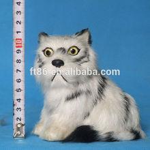 OEM fashion realistic adorable plastic furry white tiger toy