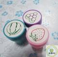 Design de moda personalizado de borracha do selo do brinquedo/natal auto- tinta de carimbo de brinquedo para crianças