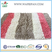 striped microfiber chenille modern fashion design mat