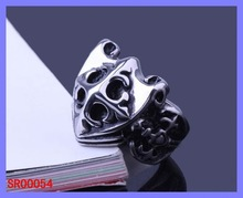 Lucky Stainless Steel Jewelry charms jewellery men's alloy ring