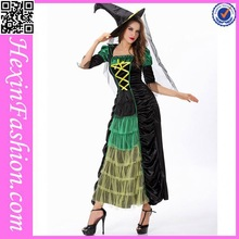 China Factory Long Dress Witch Halloween Costume