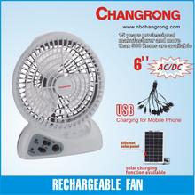 Rechargeable small electric plastic fashion usb mini fan