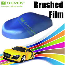 Brushed Vinyl Film Car Wrap Best For Car Graphics / 5 colors can be chose / hot selling Size: 1.52 m x 30 m